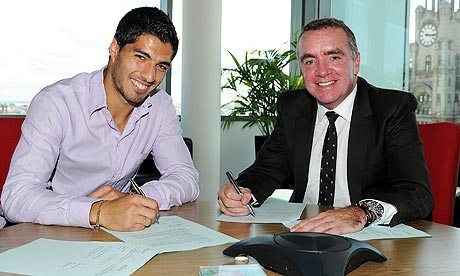 Great timing: Liverpool MD Ian Ayre says Luis Suarez has damaged Liverpools brand; hes working on his character