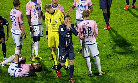 David Beckham red card PSG