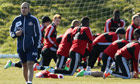 Paolo Di Canio takes training at Sunderland