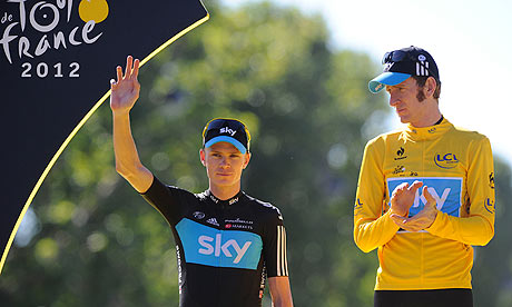 bradley wiggins, right, and chris froome