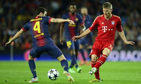 Bayern Munich's Bastian Schweinsteiger