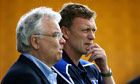David Moyes and Bill Kenwright of Everton