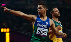Paralympic gold medallist Oliveira motivated by Pistorius blade row