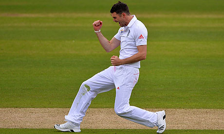 Jimmy Anderson England v New Zealand: 1st Investec Test - Day Two