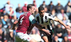 West Ham United's Kevin Nolan and Newcastle United's Hatem Ben Arfa