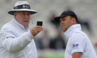 Jonathan Trott keeps an eye on the light meter