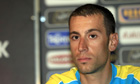 Italian rider Vincenzo Nibali reacts dur