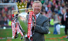 Alex Ferguson with Premier League trophy