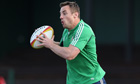 Tommy Bowe, British & Irish Lions training session