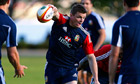 Brian O'Driscoll during a Lions training session in Perth