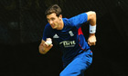 Steven Finn during a nets session at Edgbaston