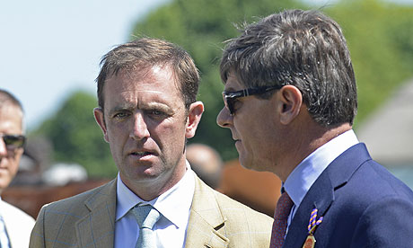 Godolphin's racing manager Simon Crisford with Charlie Appleby