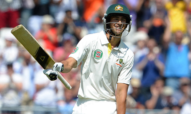 Australia's Ashton Agar celebrates his half century