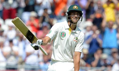 Australia's Ashton Agar celebrates his half century