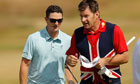 Justin Rose and Nick Faldo