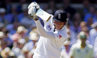 Stuart Broad batting at Lord's, England v Australia second Test