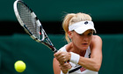 Agnieszka Radwanska of Poland returns to Li Na