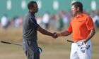 Tiger Woods and Lee Westwood