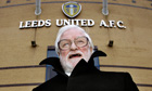 Leeds United's new owner Bates arrives for a news conference at Elland Road in Leeds.