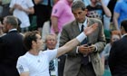 Andy Murray remonstrates with the referee