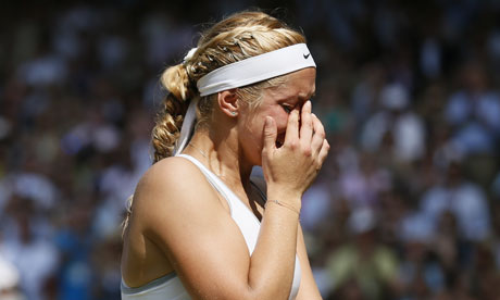 Germany's Sabine Lisicki reacts in her w