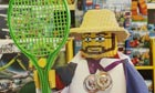 Andy Murray made of Lego in a Dunblane toy shop