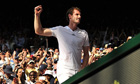 Britain's Andy Murray celebrates his victory