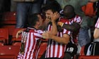 Sheffield United's Harry Maguire (second left) celebrates after scoring v Notts County