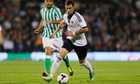 Fulham's Fernando Amorebieta in action in a pre-seaon friendly against Real Betis.