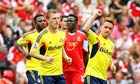 Sunderland's Emanuele Giaccherini celebrates scoring against Southampton in the Premier League
