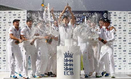Alastair Cook celebrates