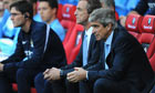 Manchester City's manager Manuel Pellegrini said defending set pieces was a duty for the whole team