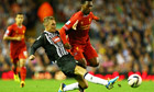 Liverpool's Daniel Sturridge is tackled by Notts County's Gary Liddle