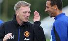 Manchester United's David Moyes in training