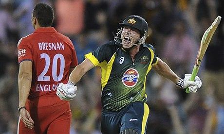 James Faulkner of Australia celebrates victory
