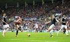 Sunderland's Fabio Borini scores against Southampton in the Premier League at the Stadium of Light