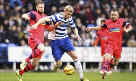 Reading's Pavel Pogrebnyak, centre, scored against Bolton Wanderers at the Madejski stadium