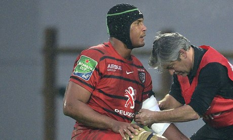 Stade Toulousain's French flanker and Th