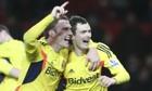 Craig Gardner and Adam Johnson celebrate Sunderland's shootout success.