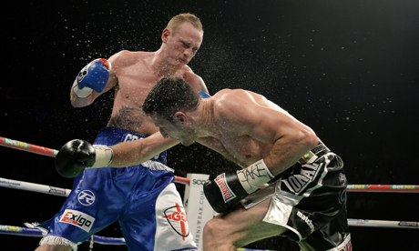 Carl Froch and George Groves during their world super-middleweight title fight in November.