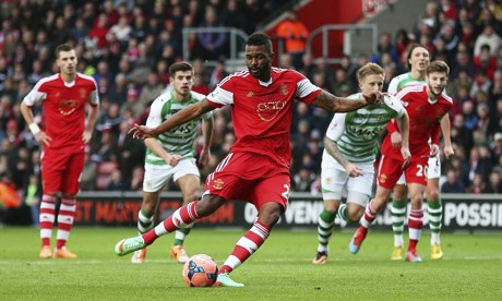 Southampton's Guily Do Prado scores the opening goal against Yeovil Town in the FA Cup at St Mary's