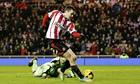 Adam Johnson gives Sunderland the lead against Stoke City at the Stadium of Light.