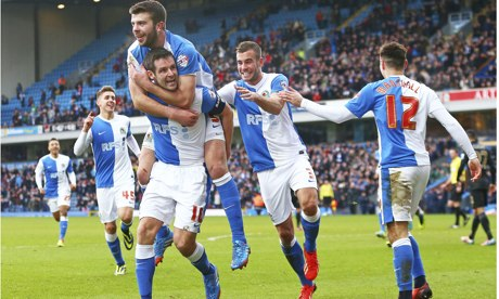 Blackburn's Scott Dann, left, scored their goal against Manchester City in FA Cup at Ewood Park