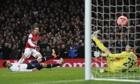 Arsenal's Santi Carzola scores