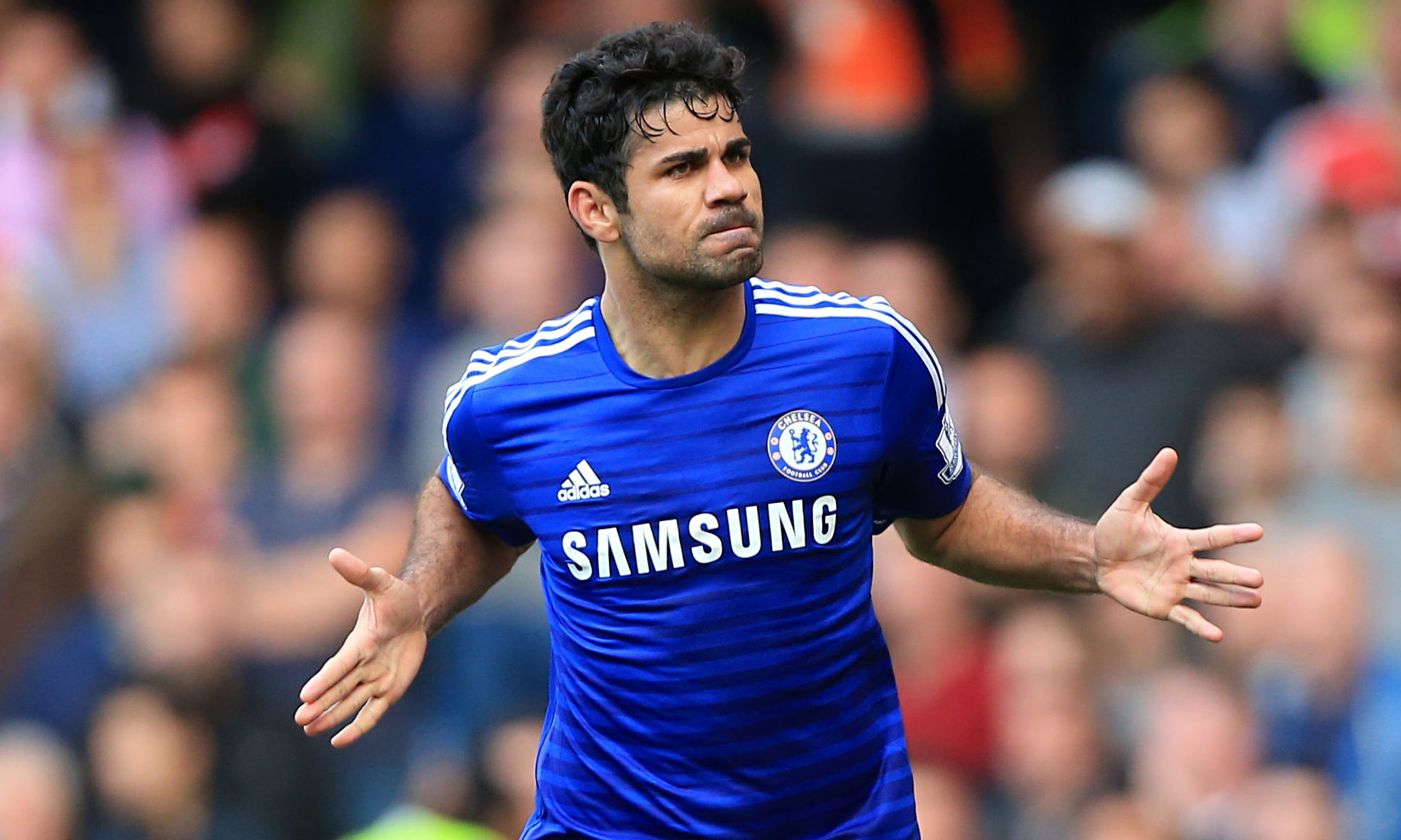 Diego Costa earned a 12 million dollar salary, leaving the net worth at 15 million in 2017
