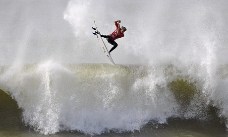 Sport picture of the day: Making waves at the Moche Rip Curl Pro