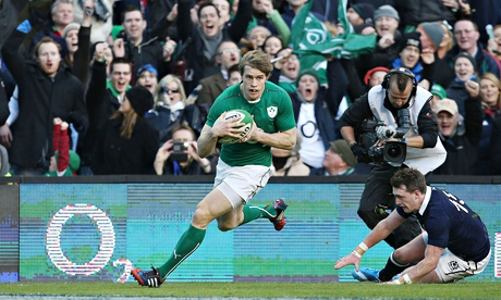 Ireland wing Andrew Trimble to miss autumn campaign with toe injury