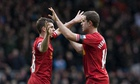 Jon Flanagan, left, and Jordan Henderson were among five Englishmen in Liverpool's team for Arsenal
