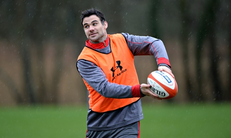 Mike Phillips during a Wales training session earlier in the week