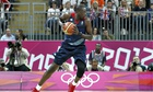 Great Britain Luol Deng in action during the Londo
